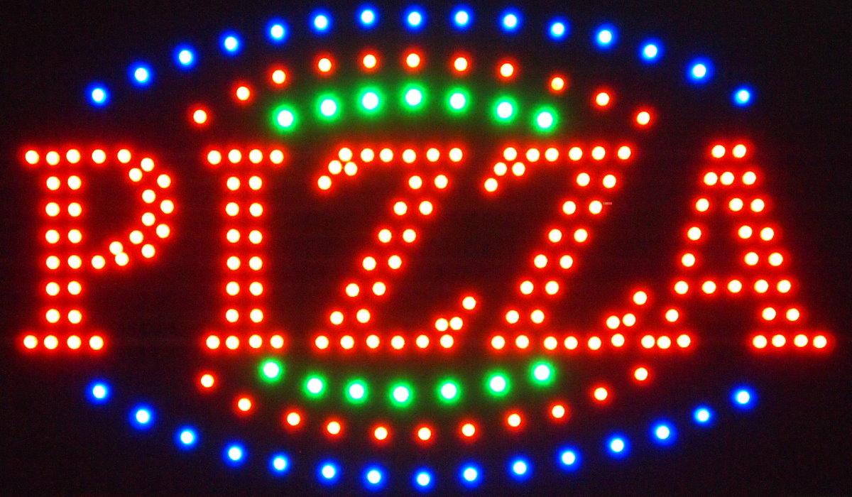 xxl led schild leuchtschild reklame leuchtreklame werbung ebay. Black Bedroom Furniture Sets. Home Design Ideas